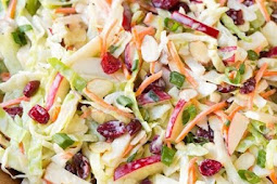 Crunchy, fresh and delicious Apple Cranberry and Almond Recipe