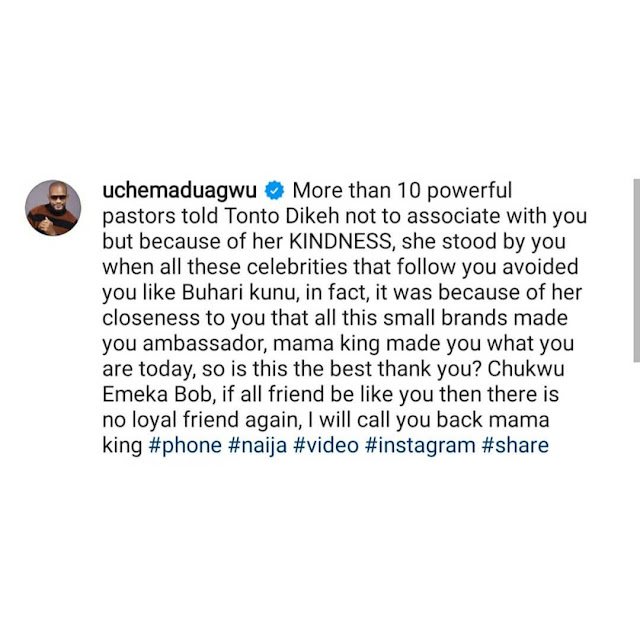 Tonto Dikeh never asked you to do wahala with Rosy. You did all that to chase clout - Uche Maduagwu slams Bobrisky