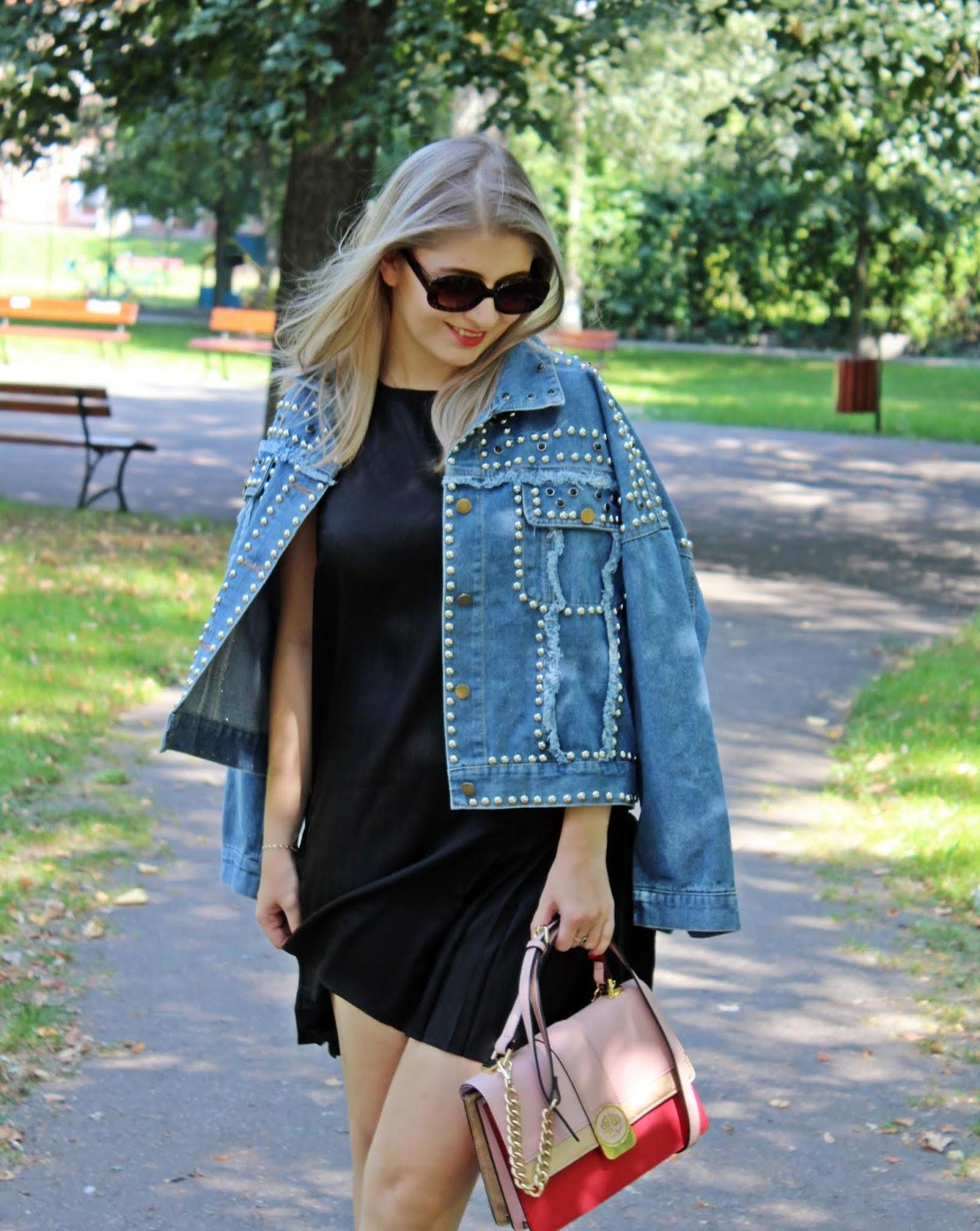 Mała czarna satynowa & jeans