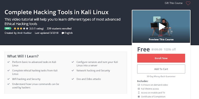 Complete Hacking Tools in Kali Linux
