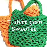 TシャツヤーンSmooTeeで編むネット編みバッグ
