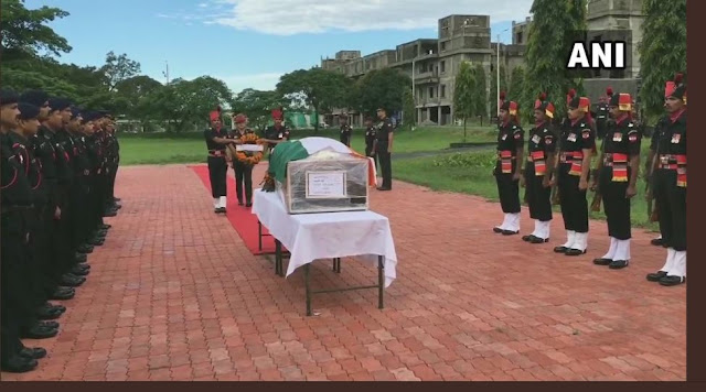 Army officials pay tribute to Naik Rajib Thapa at Bengdubi military station