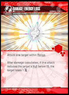 Attack type: Damage: Energy Loss
