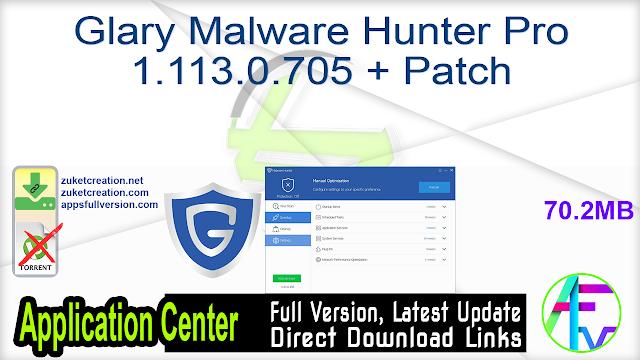 Glary Malware Hunter Pro 1.113.0.705 + Patch