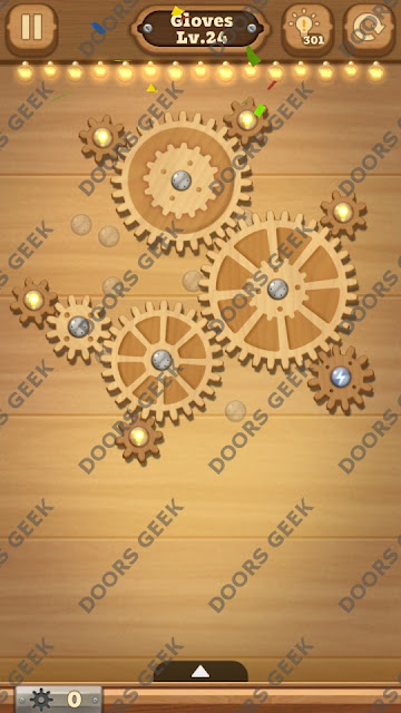 Fix it: Gear Puzzle [Gloves] Level 24 Solution, Cheats, Walkthrough for Android, iPhone, iPad and iPod