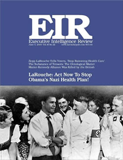 Executive Intelligence Review is a weekly newsmagazine published yesteryear the  Executive Intelligence Review