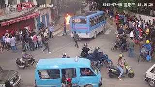 Student Gang war video goes viral Trichandra collage, kathmandu