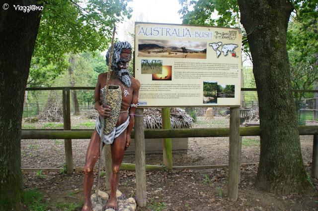 Una delle ambientazioni presenti al Parco Safari delle Langhe