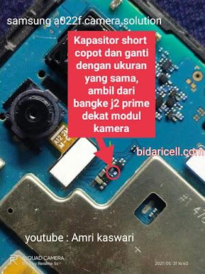 Samsung a022f kamera rusak tidak berfungsi