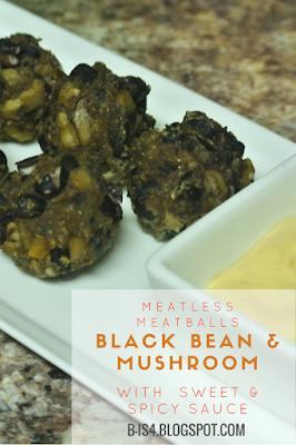 Black Bean & Mushroom Meatless Meatballs