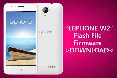 Lephone w2 flash file