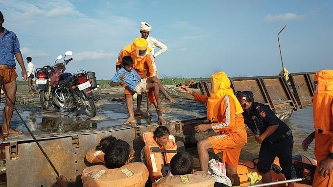 NDRF की सजकता से नाव पर सवार 150 यात्रियों की बची जान