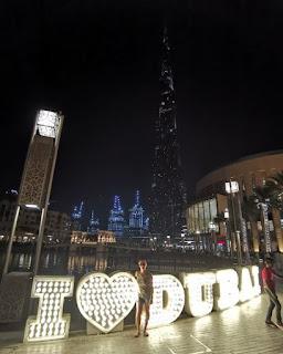 Burj Khalifa de noche.