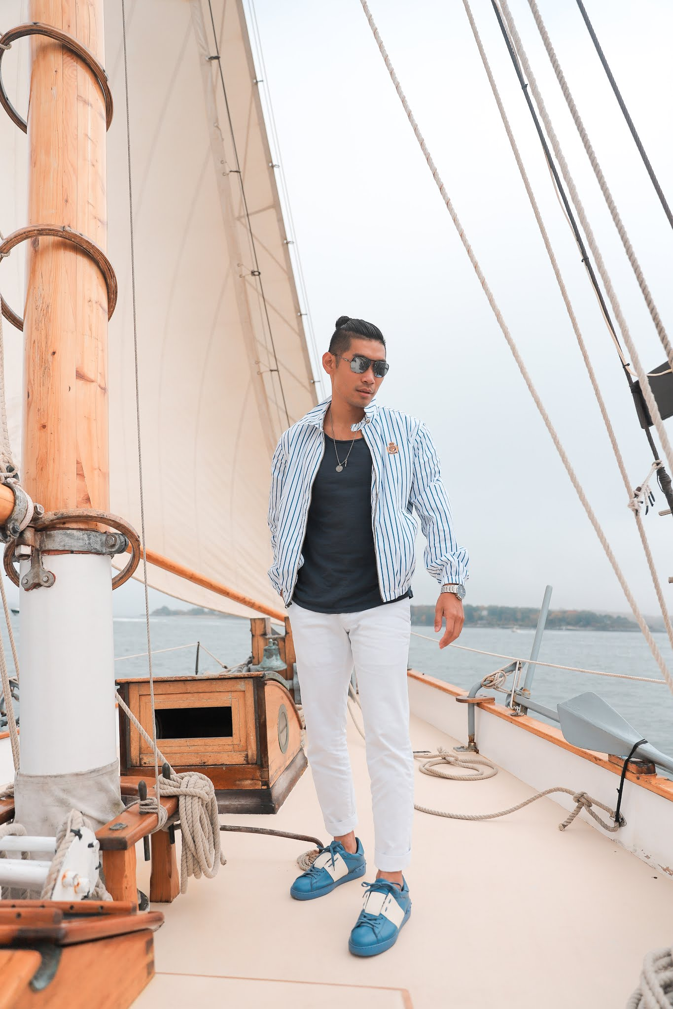 Fall Outfit Inspiration for Men 2020 | Leo Chan wearing Nautical Outfit