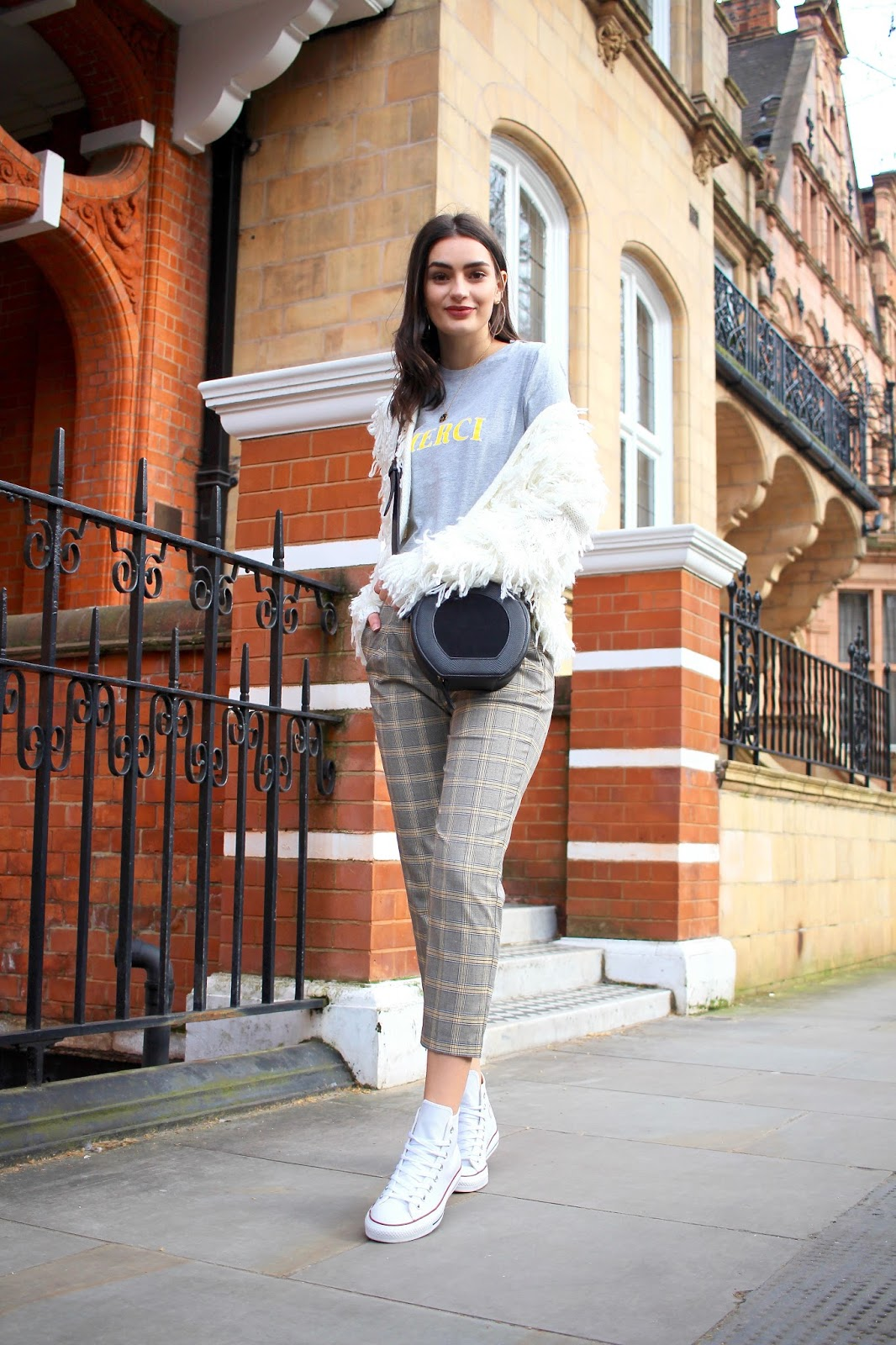 peexo spring style check trousers smart casual