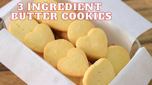 3-Ingredient Butter Cookies Recipe