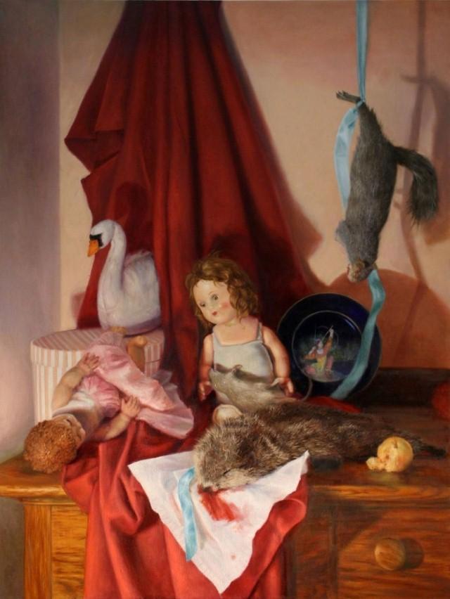 Пародии на охотничьи натюрморты. Cara De Angelis 7