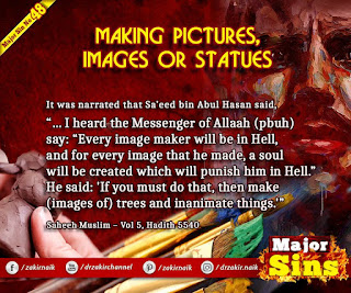 MAJOR SIN. 48. MAKING PICTURES, IMAGES OR STATUES