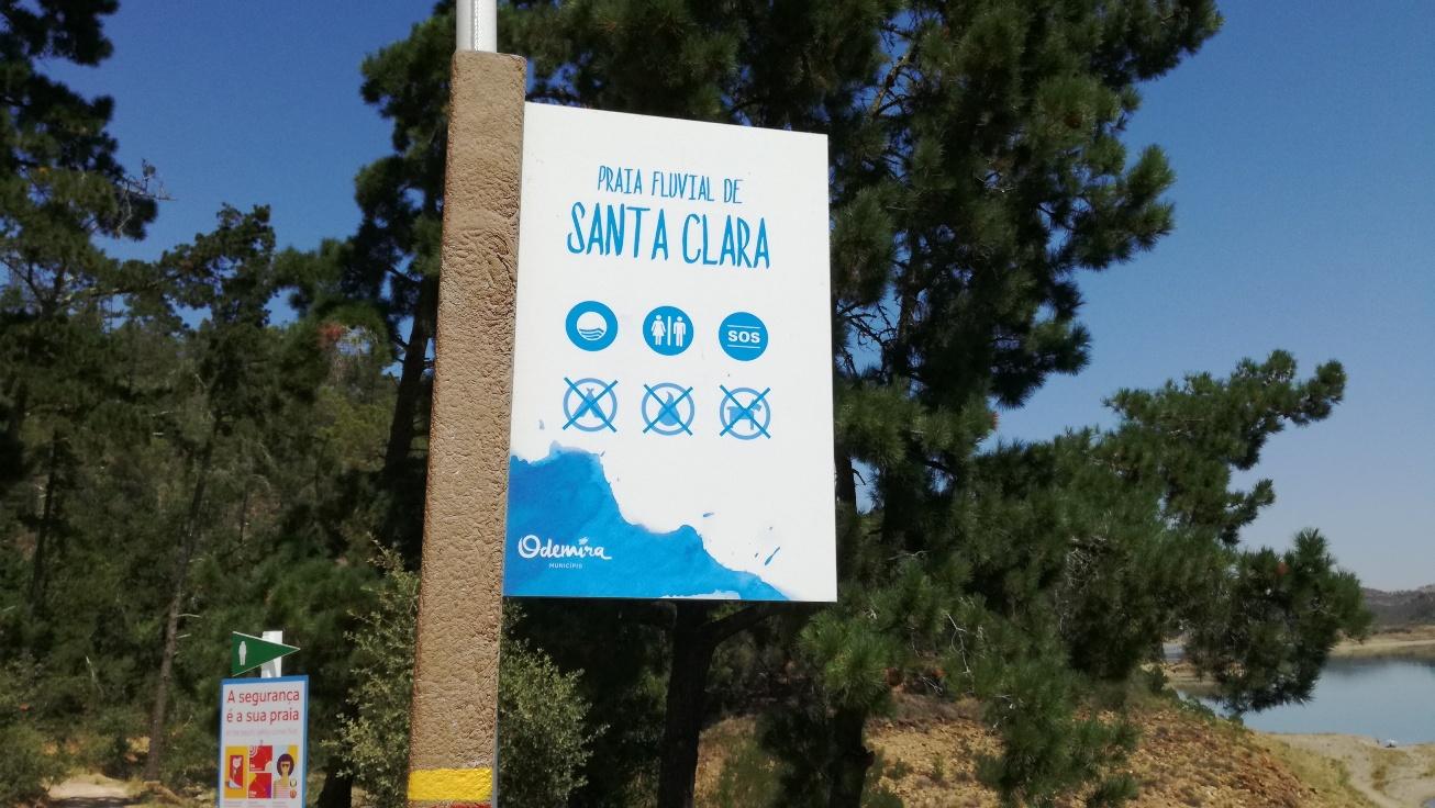 Placa Praia Fluvial de Santa Clara