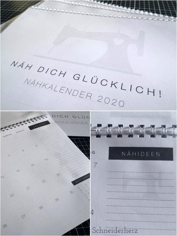 Kalenderblätter Nähkalender