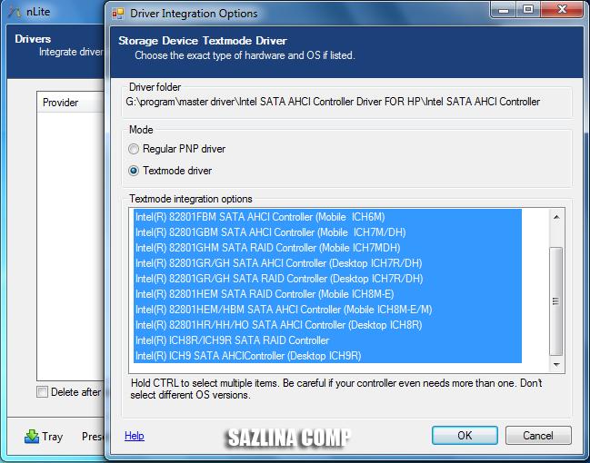 Драйвера SATA AHCI RAID для ноутбуков | Vodu-Septik-technology