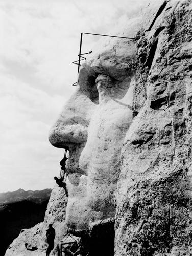 Monte Rushmore, fotos antiguas, proceso de construcción