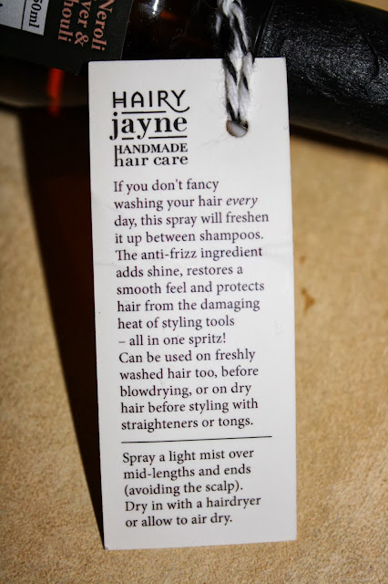 photo of hairy jayne hair perfume directions