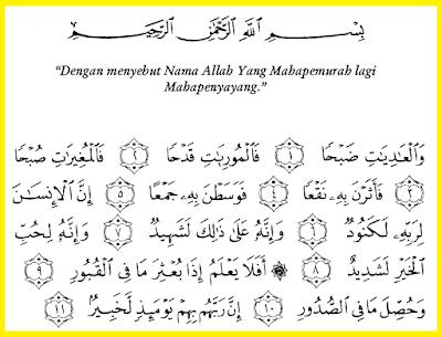 Surat Al-Adiyat Mp3 Lengkap Bacaan Dan Tafsirnya Gratis Download