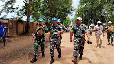 Pasukan Garuda Satgas TNI RDB Selamatkan Staf dan Aset UN di Nyunzu Afrika