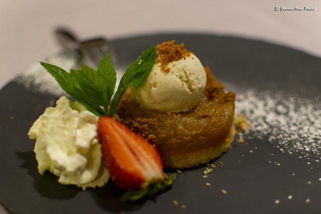 Restaurante Le Pradinas, tarta de manzana, Anduze - Francia, por El Guisante Verde Project
