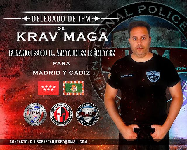 Nombramiento del entrenador D. Francisco Luis Antunez Benítez como Delegado de KRAV MAGA de IPM, para Madrid y Cádiz