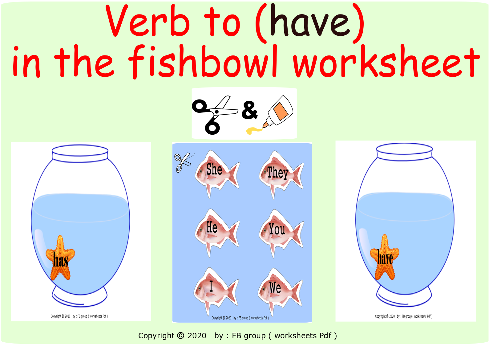 Download Verb To Have In The Fishbowl Worksheet File