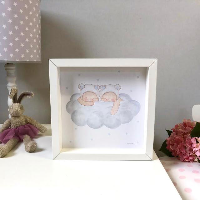 especial habitaciones de bebés láminas para decorar
