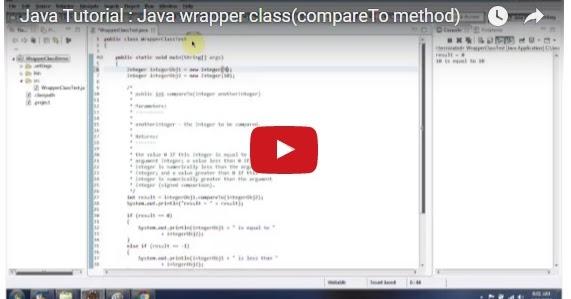 Java ee java tutorial java wrapper class compareto method for Pool design pattern java