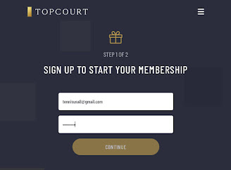 Sign up with any email and password