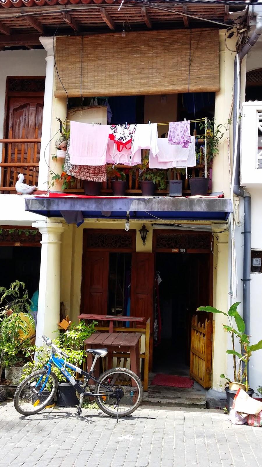 Colorido de las casas de Galle (Sri Lanka)