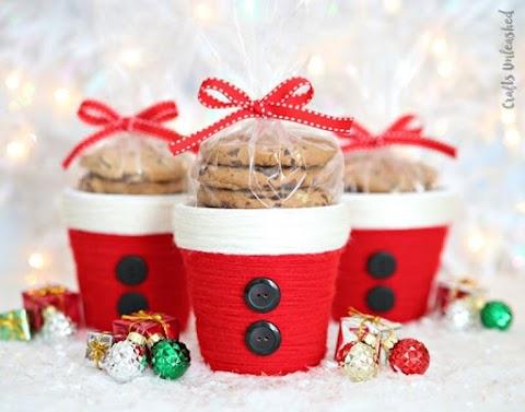 Lembrancinha de Natal - Vasinho de plantas com cupcake