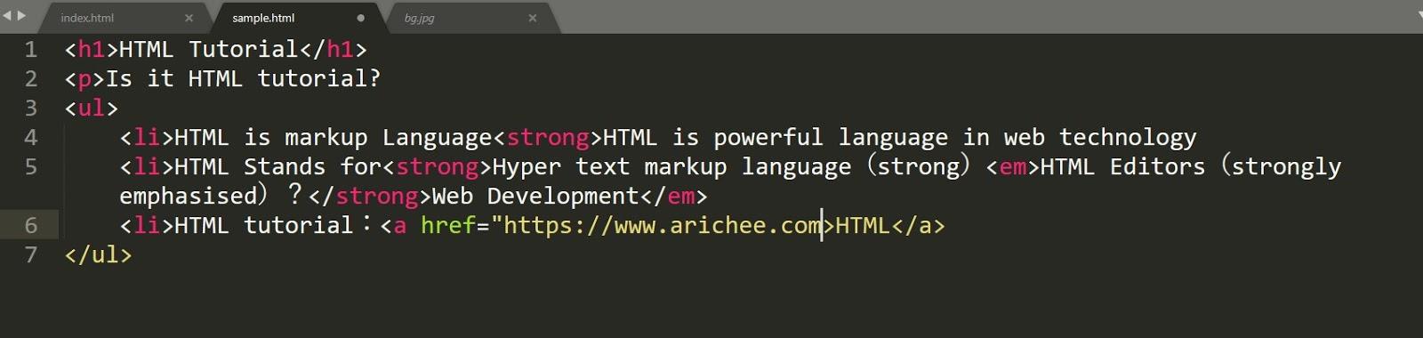 HTML Errors