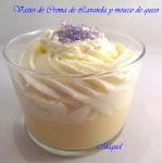 Vasito de crema de lavanda y mousse de queso