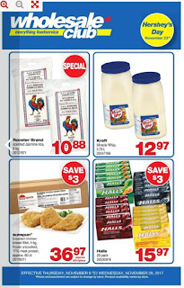 Wholesale Club Flyer November 9 – 29, 2017