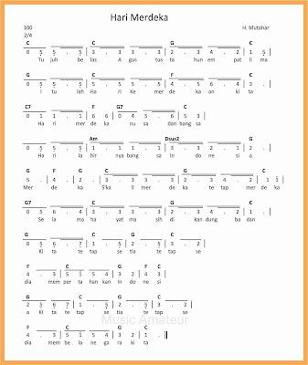 not angka lagu hari merdeka