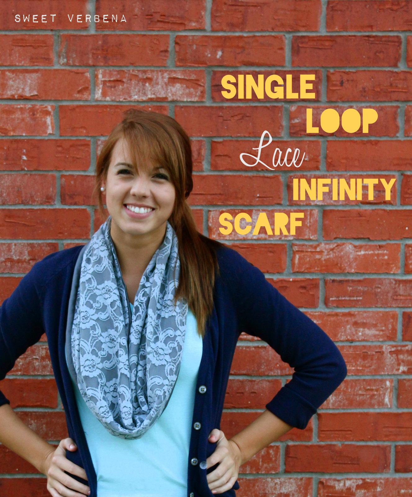 Single Loop Lace Infinity Scarf Tutorial  5b2b897a266
