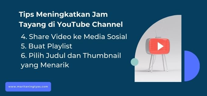 menambah jam tayang channel youtube