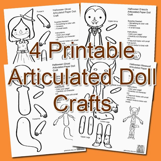 Free Fall Printable: Articulated Paper Dolls Halloweenies