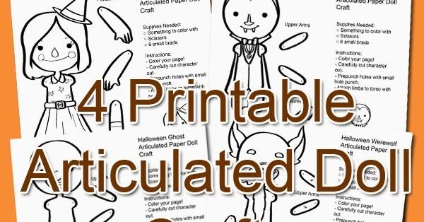 pixelpleat Free Fall Printable Articulated Paper Dolls Halloweenies