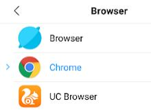 Cara menjadikan Chrome sebagai default browser di Xiaomi Android
