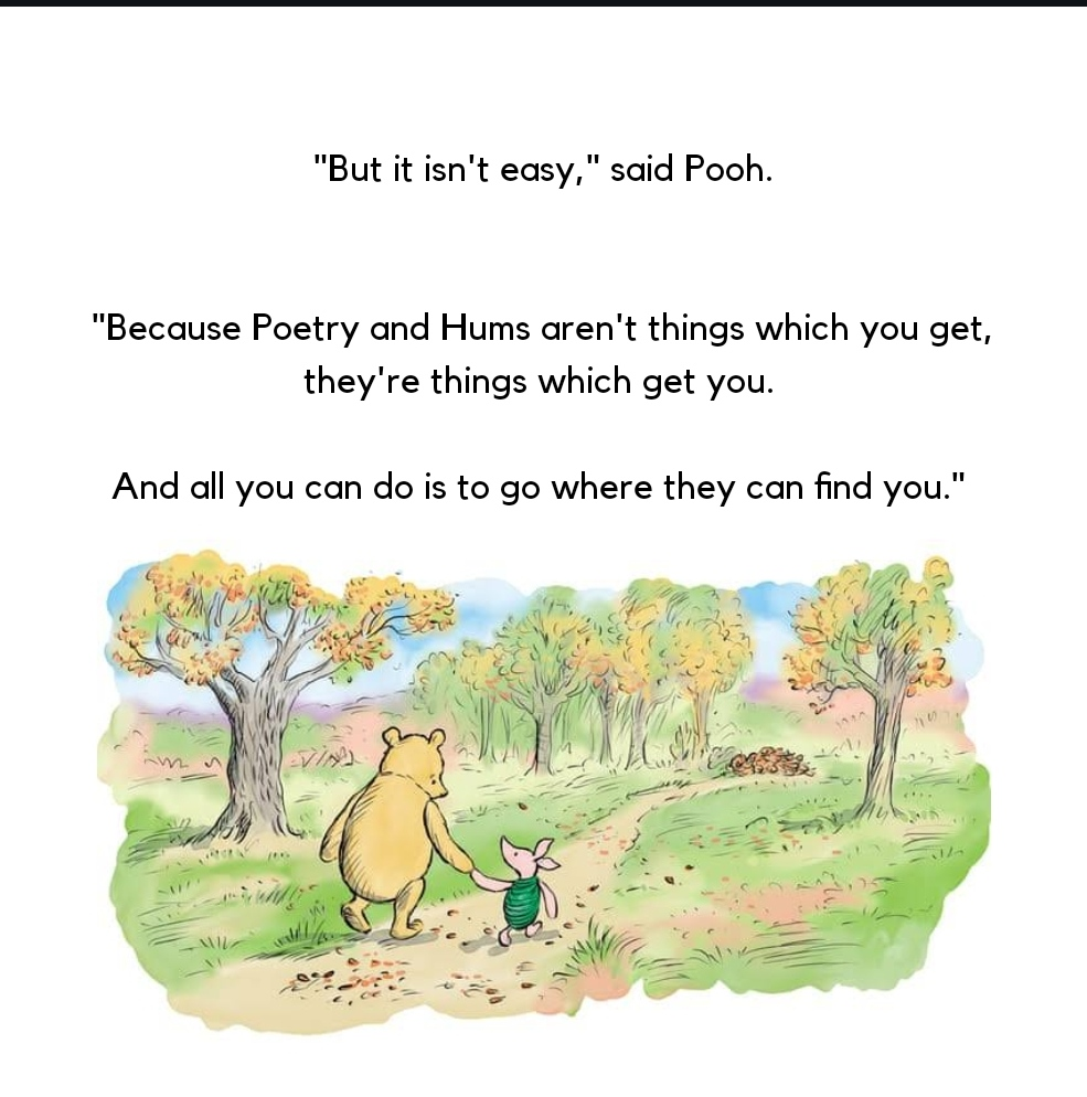 Kata Winnie The Pooh Soal Puisi dalam buku The House at Pooh Corner