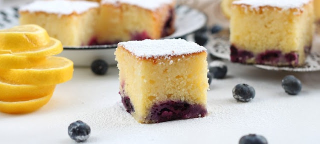 LEMON BLUEBERRY CAKE , Weight Watchers Recipe , 9 Smart Points