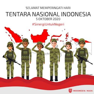 poster hari tentara nasional indonesia 2020