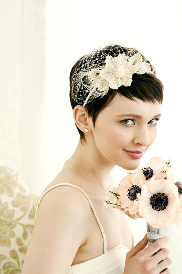 Bridal Veils For Short Hair